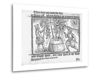 Hop Cultivation, from 'Vade Mecum, a Perfite Platform of a Hoppe Garden' by Reynolde Scot, 1576