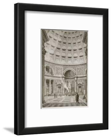 Interior of the Pantheon at Rome (Restored) (Litho)