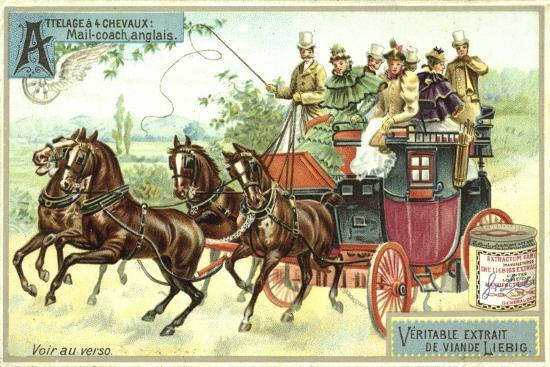 English Mail Coach--Giclee Print