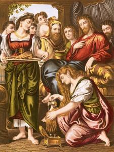 Mary Anointing the Feet of Jesus by English