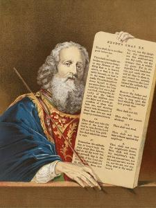 Moses with the Tables of the Law by English