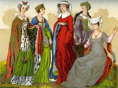English Noblewomen, 15th-16th Century-Edward May-Giclee Print