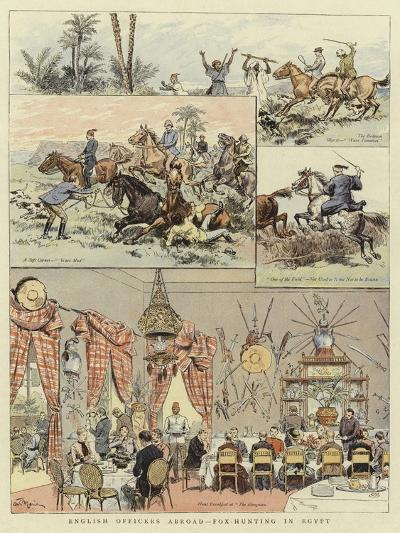 English Officers Abroad, Fox-Hunting in Egypt--Giclee Print