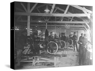A WWI Motorcycle Repair Shop