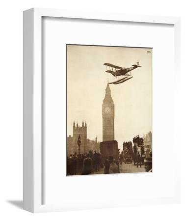 Alan Cobham Coming in to Land on the Thames at Westminster, London, 1926