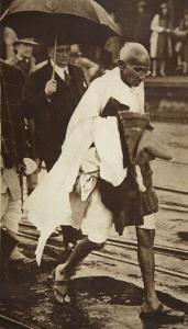 Gandhi Visiting London for 'Round Table' Conferences, September 1930 by English Photographer