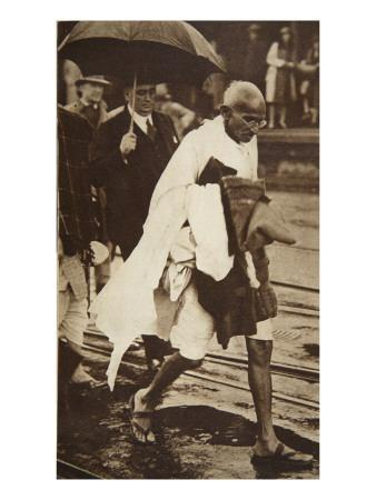 Gandhi Visiting London for 'Round Table' Conferences, September 1930