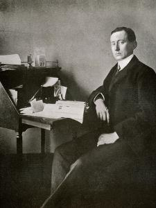 Guglielmo Marconi, from 'The Year 1912', Published London, 1913 by English Photographer