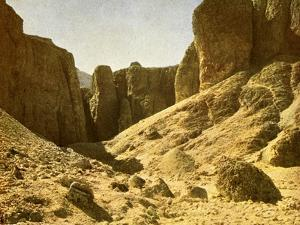 In the valley of the royal tombs, Egypt by English Photographer