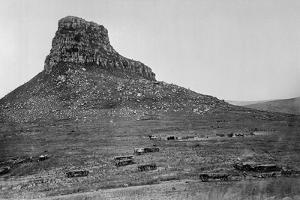 Isandhlwana across the Nek, from an Album of 43 Photographs Compiled by George Froom of the 94th… by English Photographer