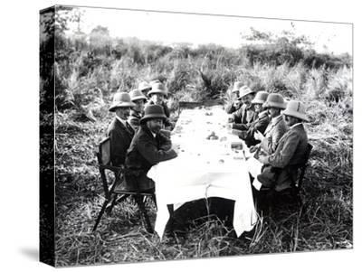 King George V Having Lunch in the Chitwan Valley During a Tiger Shoot, 1911