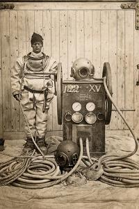 Master Shipwright and Diver, Gordon Leslie Challen by English Photographer