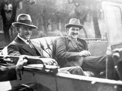 Michael Collins (1890-1922) with Emmet Dalton During the Treaty Discussions in London, 1921