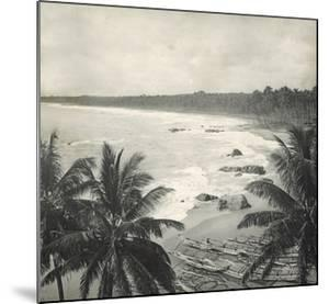 Mount Lavinia Bay, Ceylon, February 1912 by English Photographer
