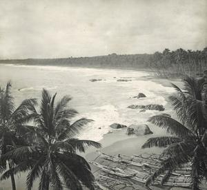 Mount Lavinia Bay, Ceylon, February 1912 by English Photographer
