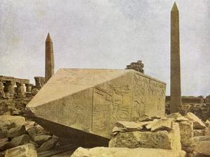 Obelisks at Karnak, Egypt by English Photographer