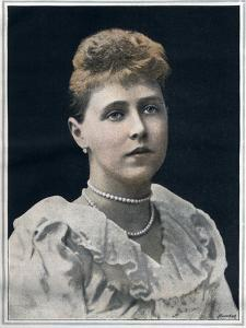 Portrait of Marie of Romania (Marie Alexandra Victoria, previously Princess Marie of Edinburgh) by English photographer