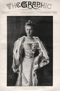 Portrait of Wilhelmina of the Netherlands (1880-1962), Queen of the Netherlands by English photographer