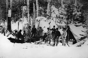 Prince Arthur's Moose Hunting Expedition in Canada, C.1870 by English Photographer