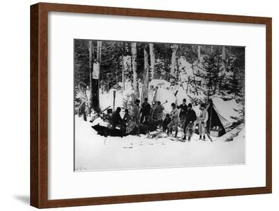 Prince Arthur's Moose Hunting Expedition in Canada, C.1870
