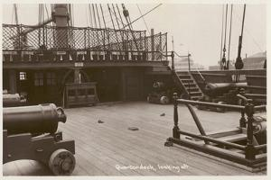 Quarterdeck of HMS Victory, Looking Aft by English Photographer