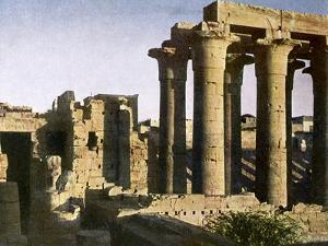 Ruins of portico at the Temple of Luxor, Egypt by English Photographer