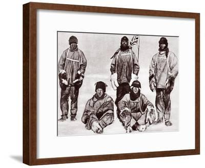 Scott, Wilson, Oates, Bowers and Evans at the South Pole, 18th January 1912