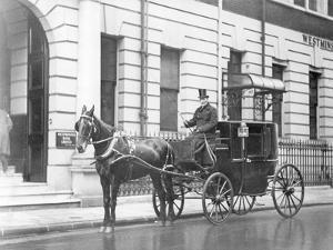 Single-Horsed Carriage (B/W Photo) by English Photographer