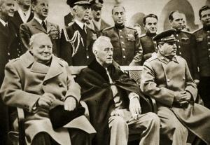 The 'Big Three' at the Yalta Conference by English Photographer