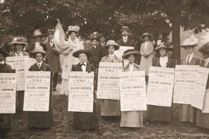 The Suffragettes of Ealing Publicise a Public Demonstration to Be Held on Ealing Common on 1st June by English Photographer
