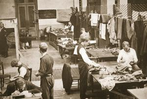 The Tailors' Shop, Alexandra Palace, Illustration from 'German Prisoners in Great Britain' by English Photographer