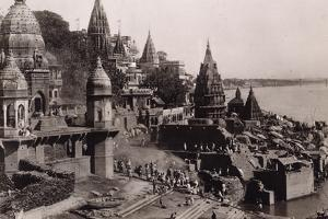 View of Benares, 1890 by English Photographer