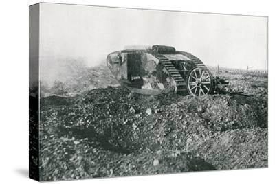 WWI British Tank in Action on the Western Front, 1917