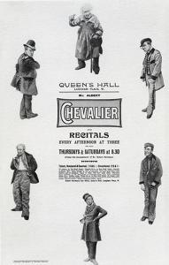 Poster Advertising Albert Chevalier's Recital at the Queen's Hall (Engraving) by English