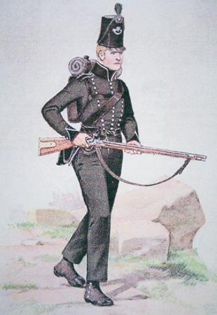Private of the 95th Rifles, C.1810, Armed with the Baker Rifle, Designed by Ezekiel Baker of London