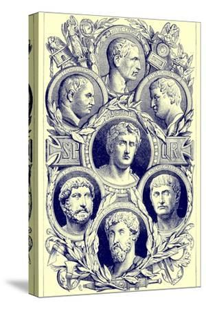 Roman Emperors, Illustration from 'The Illustrated History of the World', Published C.1880