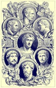 Roman Emperors, Illustration from 'The Illustrated History of the World', Published C.1880 by English