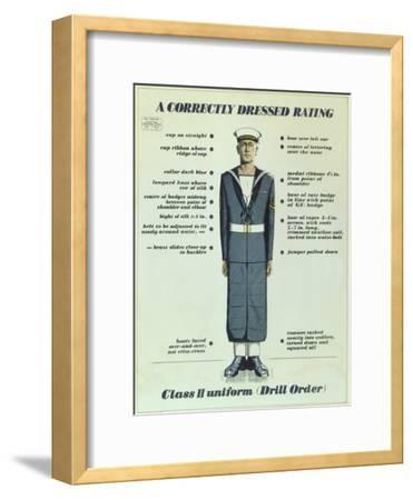 A Correctly Dressed Rating, Class II Uniform (Drill Order), 1957