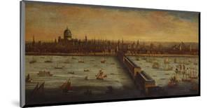 A Panoramic View of the River Thames and the City of London Taken from the by English School