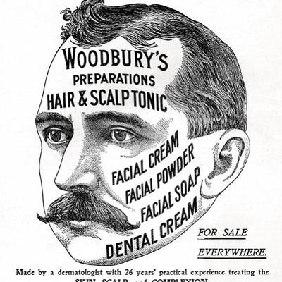 Advertisement for 'Woodbury's Preparations', 1910s by English School