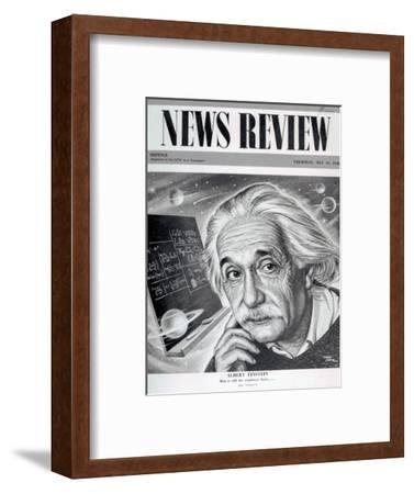 Albert Einstein on the Cover of 'News Review', 16th May 1946