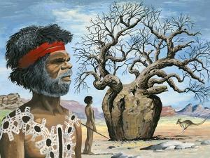 Australian Aborigine by English School