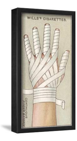 Continuous Finger Bandage, No.48 from the 'First Aid' Series of 'Wills's Cigarettes' Cards, 1913