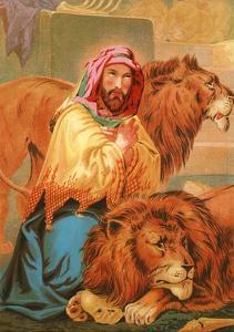 Daniel in the Lion's Den by English School