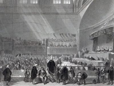 Daniel O'Connell Standing Trial in 1844