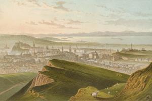 Edinburgh from Arthur's Seat by English School