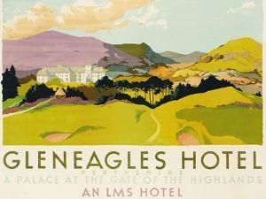 Gleneagles Hotel, Poster Advertising the Lms, 1924 by English School
