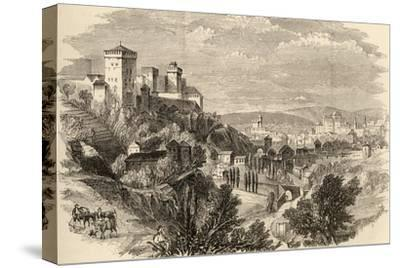 Granada and the Alhambra, Illustration from 'spanish Pictures' by the Rev. Samuel Manning