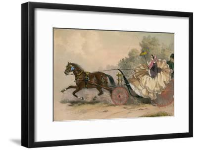 Horse and Carriage at Speed with a Lady at the Whip; Prostitution