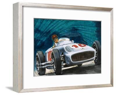Juan Manuel Fangio Driving a Mercedes-Benz
